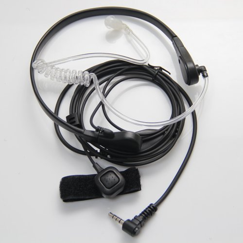 Throat Mic Microphone Covert Acoustic Tube Earpiece Headset With Finger Ptt For Yaesu Vertex Vx-3R 5R 210 210A Two Way Radio Walkie Talkie 1Pin