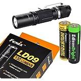 Fenix LD09 130 Lumen LED Tactical Flashlight with EdisonBright AA Alkaline battery