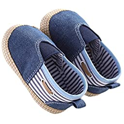 Voberry® Baby Boys Girls Toddlers Sneakers Soft Sole Anti-slip Outdoor Canvas Shoes ( 6~12 Month, Blue)