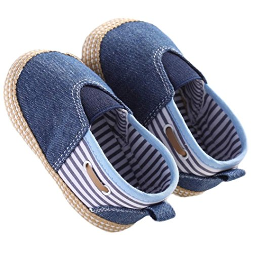 Voberry® Baby Boys Girls Toddlers Sneakers Soft Sole Anti-slip Outdoor Canvas Shoes (0~6 Month, Blue)
