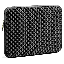 Laptop Sleeve, EveCase 13.3'' ~ 14'' Laptop / Chromebook/ Ultrabook Notebook PC Diamond Foam Splash & Shock Resistant Neoprene Sleeve Case Travel Bag, Black