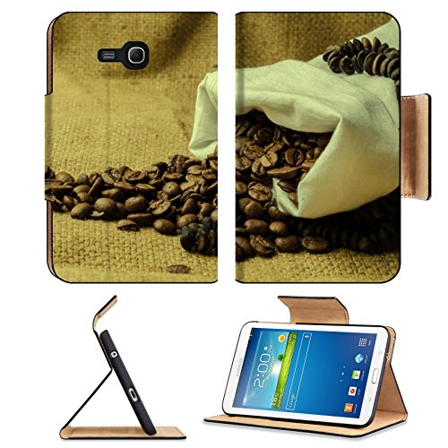 Coffee Beans In Burlap Sack 3Dcom Tab 3 7.0 Lite Leather Flip Case Stand Smart Magnetic Cover Made To Order Premium Deluxe Pu Leather