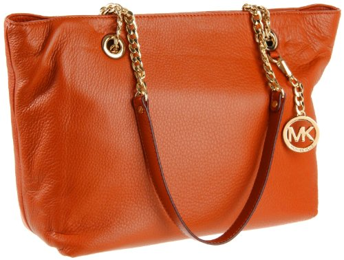 Michael Michael Kors Jet Set Chain Large Chain East/west Tote PERSIMMON