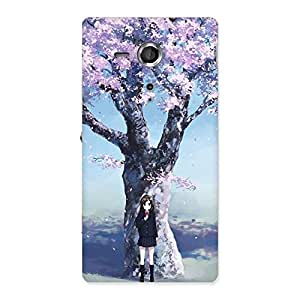 Ajay Enterprises Wonderful Cherry ( Girl Back Case Cover for Sony Xperia SP