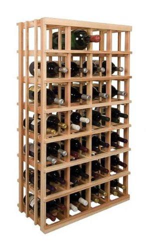 Vintner 4 Ft. Double Magnum Wine Rack (Premium Redwood - Unstained) front-617097