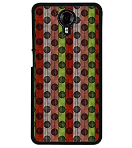 Fuson Premium Colored Circle Pattern Metal Printed with Hard Plastic Back Case Cover for Micromax Canvas Xpress 2 E313