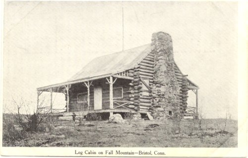 1900 Vintage Postcard Log Cabin on Fall Mountain