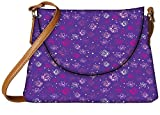 Snoogg Small Butterflies Purple Pattern Designer Womens Carry Around Sling Bags