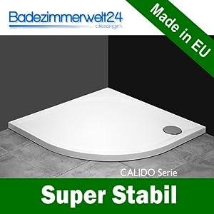 Calido Duschwanne/Duschtasse Superflach 5,5 cm! Modern Viertelkreis 80x80 R=55cm  BaumarktKritiken und weitere Infos