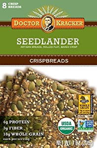 Doctor Kracker Seedlander Organic Crispbreads, 7-Ounce Boxes (Pack of 6)