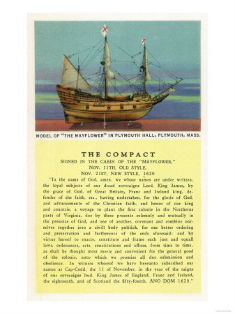 Plymouth, Massachusetts - Mayflower Model, the Compact in Plymouth Hall