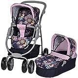 Knorrtoys 90778 - Coco, coche de paseo para muñecas convertible, diseño de flores [Importado de Alemania]