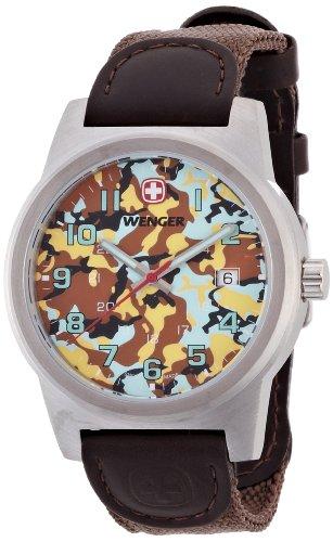 Wenger - 010441109 - Montre Homme - Quartz Analogique - Bracelet Nylon Marron