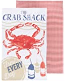 Now Designs Tea Towels, Crab Shack, Set of 2