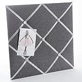 Porte photo, pêle-mêle carré en tissu à accrocher 40x40cm