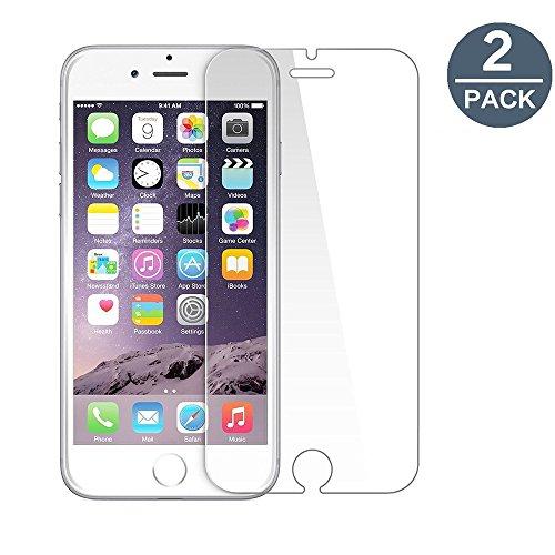 Vidrio templado iPhone 66S, [2-Pack] y-ouni película protección-sin burbujas de aire-Ultra resistente, dureza 9H Glass Screen Protector para iPhone 6/6S 4.7Inch