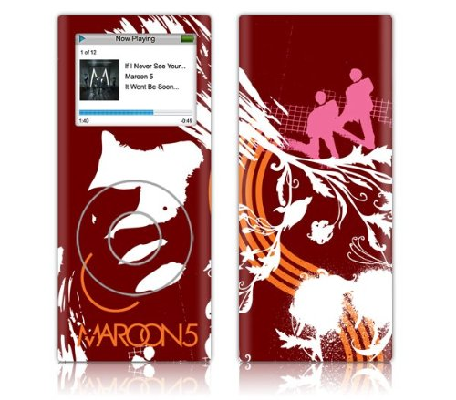 Zing Revolution Ms-M520131 Ipod Nano- 2Nd Gen- Maroon 5- Abstract Skin front-27391
