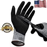 Hilinker Cut Resistant Gloves Highest Performance Knife Scissors Hands & Body EN388 Level 7 Protection Kitchen Work Safety Hand Protector Lightweight Durable Comfortable Indoor Outdoor Use Large