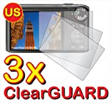 3x Canon PowerShot SX260 HS Premium Invisible Clear LCD Screen Protector Cover Guard Shield Protective Film Kit (3 Pieces)