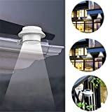3 LED 防水 ソーラーライト ワイヤレス 人感センサーライト 屋外照明/軒先/壁掛け/庭先/玄関周りなどに対応 夜間自動点灯 (1個)