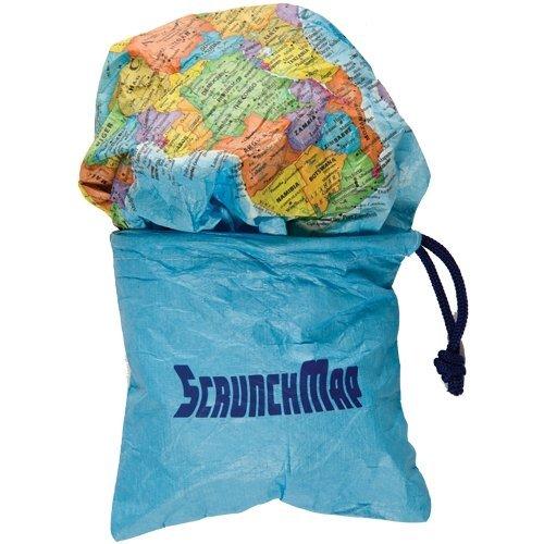 World Scrunch Map (World Map Round compare prices)