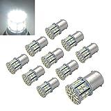Efoxcity 12V 1156 10 Pack Bright 1156 1141 1003 50-SMD White LED Bulbs For Car Interior RV Camper light (1)