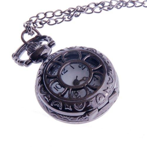 ladies-quartz-pocket-pendant-watch-with-chain-small-face-half-hunter-white-dial-arabic-numerals-vint