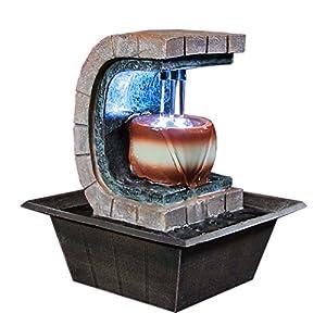 Meditation Tabletop Fountain w/ LED Lights by Sunnydaze Decor