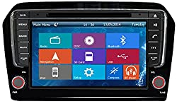 See Crusade Car DVD Player for Vw Jetta 2013- Support 3g,1080p,iphone 6s/5s,external Mic,usb/sd/gps/fm/am Radio 8 Inch Hd Touch Screen Stereo Navigation System+ Reverse Car Rear Camara + Free Map Details