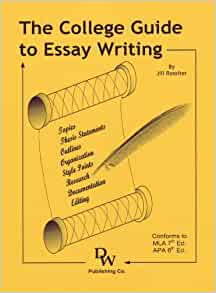 the college guide to essay writing by jill rossiter Tools & books to make esl essay writing exciting and effective guide to essay writing (by jill rossiter) process for writing college essays.