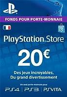 Carte Playstation Network 20 EUR [Code Jeu PSN PS4, PS3, PS Vita - Compte français]