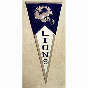 Detroit Lions NFL Classic Pennant (17.5x40.5) by Winning Streak