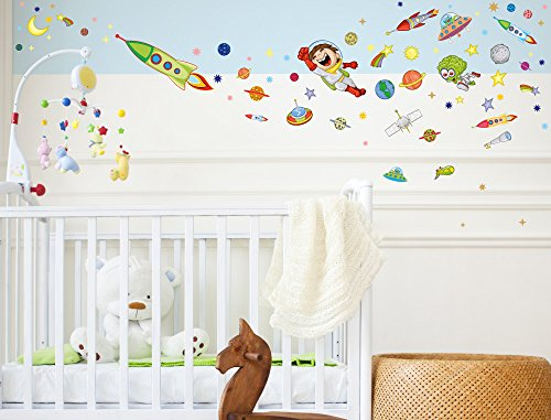 i love wandtattoo was 10020 wandsticker kinderzimmer weltall wandtattoo wandaufkleber sticker. Black Bedroom Furniture Sets. Home Design Ideas