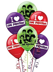 1D - One Direction Latex Balloons 12in - 6ct from AMSCAN