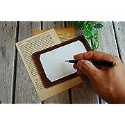 BlancCouture(ブラン・クチュール) 情報カード 本革 ジョッター メモ パッド 5×3サイズ (マットブラック)
