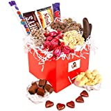 Mrs Hawkins Chocolate Hamper - Beautiful Red Gift Box With White Ribbon And Free Gift Tag