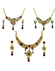 Dg Jewels Exotic Ethnic Necklace Set Combo-DGENS Combo 109