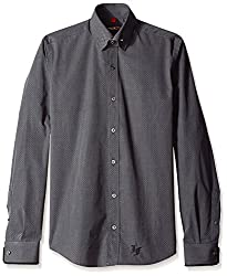 Lords & Fools Men's Bar Shirt, Grey, M