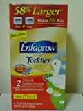 Enfagrow Premium Toddler 2 Infant & Toddler Formular 38 Oz. Powder Pouches 58% Larger Makes 273 Fl Oz Box