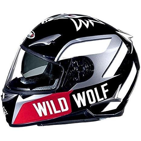 Casque moto intégral SHIRO SH-715 WILD WOLF - Double écran - Noir / Gris