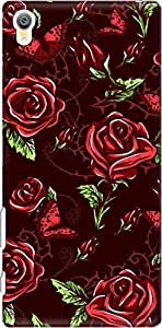 The Racoon Lean Maroon Rose Wallpaper hard plastic printed back case/cover for Sony Xperia Z5 Premium / Sony Xperia Z5 Premium Dual