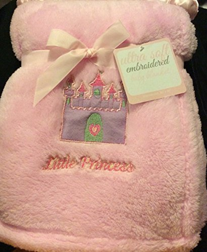 "Ultra Soft Embroidered ""Little Princess Pink"" Baby Blanket - 1"