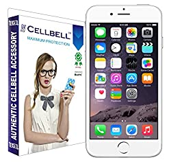 Cellbell Premium Tempered Glass Screen Protector for Apple Iphone 6 plus (2.5D Curved Edges)(Clear)(Comes with Warranty)Complimentary Prep cloth-Bronze Edition