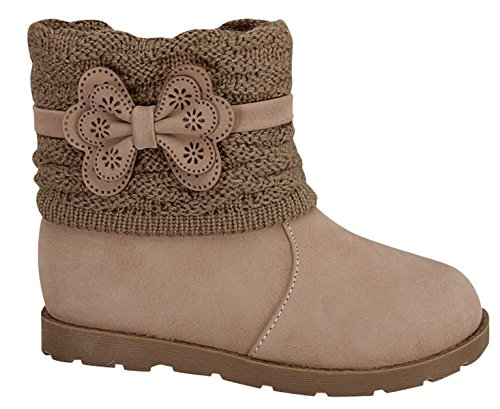 Lucky Top Sweater Top Baby/Toddler Mid-Calf Boots Tmcanna-2 (Toddler 7, Taupe) front-974528