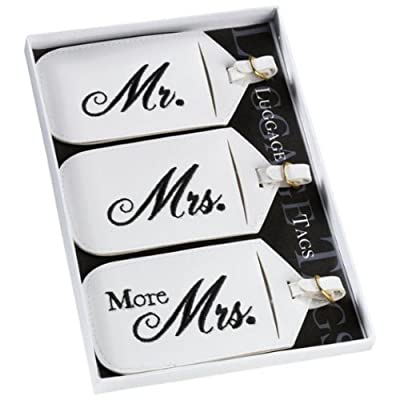 Mr. And Mrs. Luggage Tags (Set of 3)