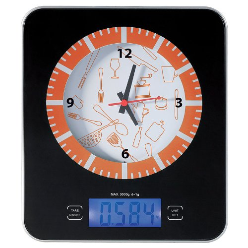 Balance/horloge de cuisine électronique 2 en 1