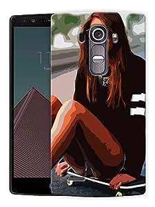 "Girl On Skateboard Printed Designer Mobile Back Cover For ""LG G4"" By Humor Gang (3D, Matte Finish, Premium Quality, Protective Snap On Slim Hard Phone Case, Multi Color)"