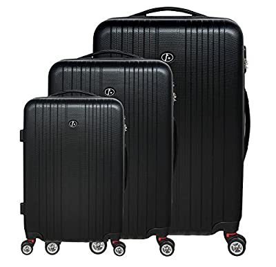 FERGÉ three suitcase set TOULOUSE - 3 suitcase hard-top cases - three pcs luggage with 4 wheels (360) - ABS