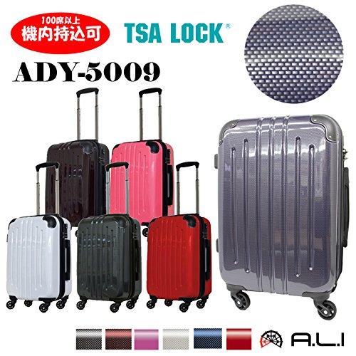 A.L.I. アジアラゲージ ADY-5009 (53.5cm/29L) スーツケース 機内持ち込みサイズ TSAロック (カーボンブラック, ワンサイズ)