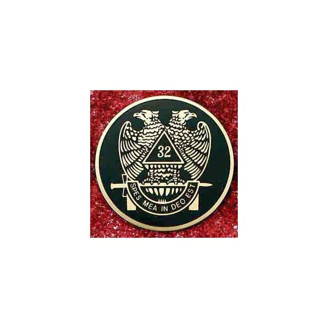 SCOTTISH RITE 32nd 32 degree 3 LARGE ALL Metal Masonic Motorcycle / Auto Car Emblem Sticker Badge Mason, Freemason Freemasons Free Mason Masons Masonic Masonry Freemasonry Past Masters Emblem Shriner,york Scottish Rite, ,Grotto,movper, Craft Lodge Entere